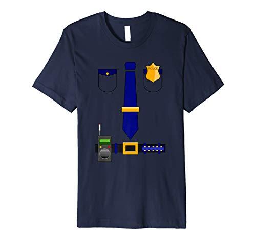 Police Uniform Costume Halloween Officer Shirt Gift