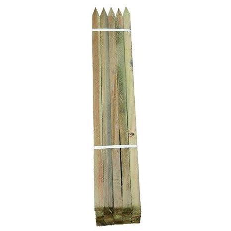 Pali di legno duro legno di Robinia, angespitzt 1.5 m, Ø 22 X 22 mm ...