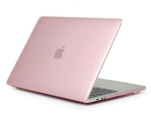 TechCode MacBook Air Apple Thin Case, Crystal Clear Super Thin Shell Ultra Slim Plastic Protective Case Matte Hard Transparent Skins Protector for Apple Macbook Air 13 Inch Model A1369 or A1466(Pink) by TechCode