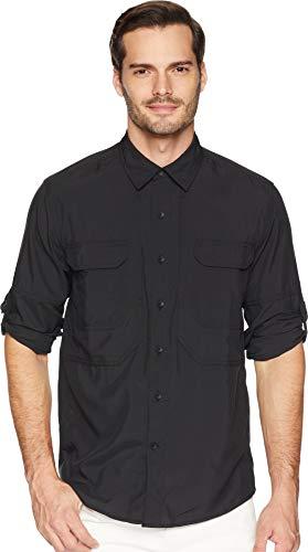 Expedition S/s Shirt - Royal Robbins Men's Expedition Dry L/s, Jet Black, Medium
