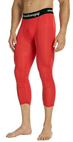 COOLOMG Compression Pants Running Tights 3/4 Capri Shorts Leggings Baselayer Quick Dry