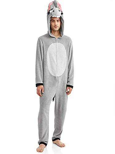 Briefly Stated Let's Take it Slow Men's Donkey Union Suit Pajamas (X-Large (46-48)) Donkey