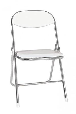 Haku Möbel Lote de 5 sillas plegables Tubo de acero/PVC ...