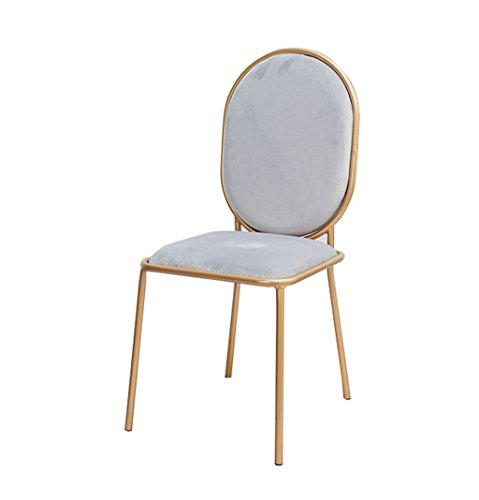 (Kitchen Breakfast bar Stool bar Chair Western Restaurant Flannel Chair, Cafe Dining Chair Gold Iron Art Lounge Chair Metal Armchair Dressing Stool Breakfast bar Stool)
