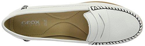 Geox D Kookean F, Mocasines para Mujer Blanco (WHITEC1000)