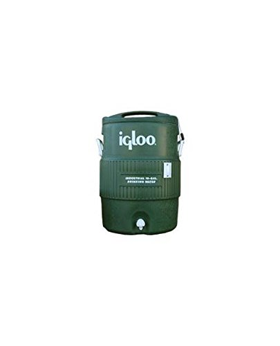 Tennis Court 10 Gallon Igloo Cooler in Green