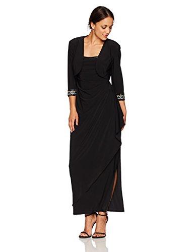long black evening dress with jacket - 7