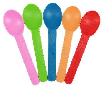 Compostable Heavy Weight Yogurt Spoons (Rainbow) - 1000pcs/Case (Yogurt Spoon)