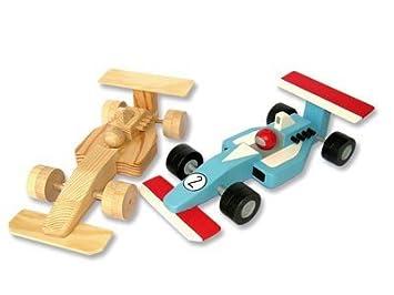 Bauernhof Rennauto F1 aus Holz Holzspielzeug BIO Fahrzeuge