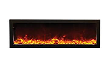"Amazon.com: Amantii BI-50-SLIM - 50"" wide x 6 3/4"" deep Electric Fireplace: Home & Kitchen"