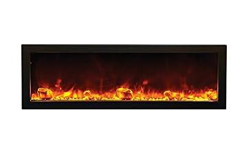 "Amazon.com: Amantii BI-50-SLIM - 50"" wide x 6 3/4"" deep Electric Fireplace: Home & Kitchen"