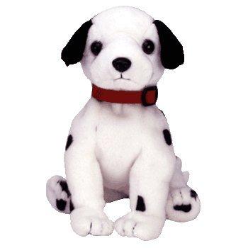Ty Beanie Baby - Dizzy The Dalmatian (Black Spots, Black Ears & red -