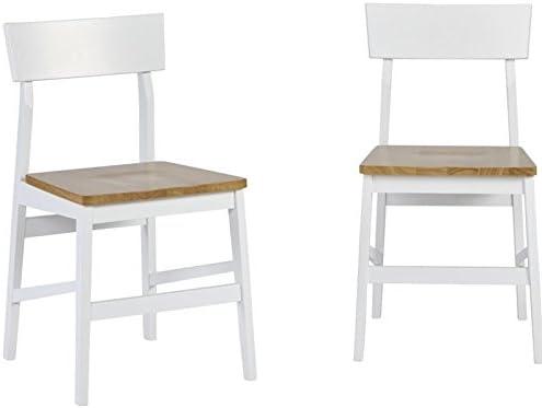 Progressive Furniture Dining Chair (2/Ctn), Light Oak/White