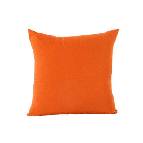 Decor Pillow Case, Howstar Solid Decorative Throw Pillow Covers for Couch Sofa Soft Cushion Case 18 x 18 inch (Orange)