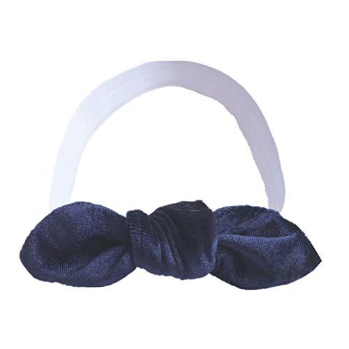 (Girls' Bowknot Headband, Iuhan Baby Kids Girls Turban Festival Headwear Elastic Headband Knotted Hairdress Accessories)