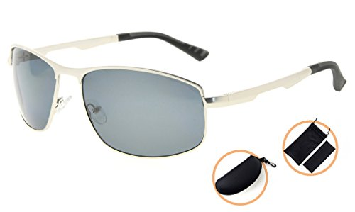 ... Eyekepper Lunettes de soleil Metal monture verres en Polycarbonate  verres Polarisees lunettes soleil pour hommes femmes ... 3d77e218754c