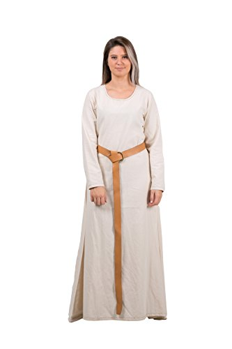 LENA Medieval Costume Underdress by CALVINA COSTUMES -Made in TURKEY, XXL-Natural