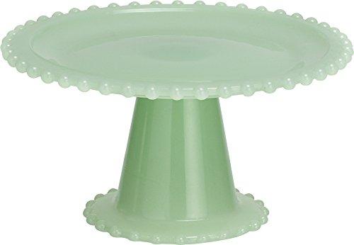 Transpac Glass Cupcake Stand, Small, Green