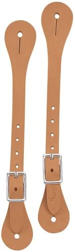 FAST FREE POST BLACK /& HAVANA LEATHER SPUR STRAPS GOOD QUALITY /& GREAT VALUE