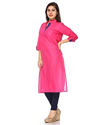 59ecc9e3b5291c Fashion By Netanya Women s Cotton Kurti  Amazon.in  Clothing ...