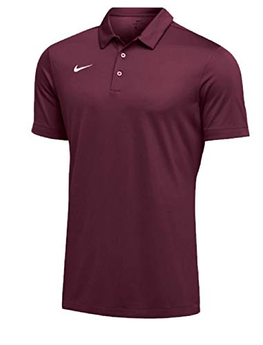 Nike Mens Dri-FIT Short Sleeve Polo Shirt (XX-Large, Maroon)