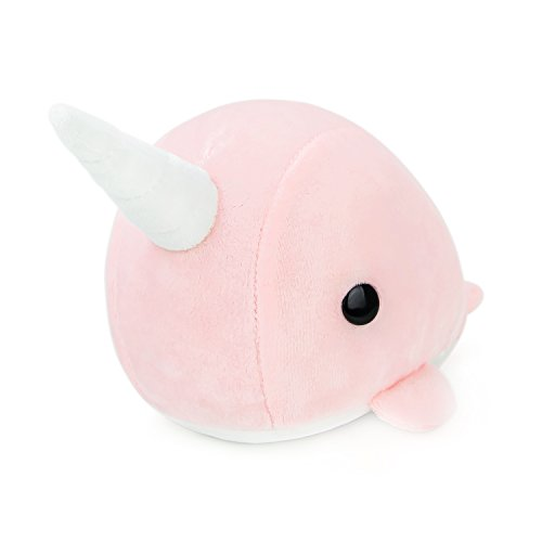 Bellzi Pink Narwhal Stuffed Animal Plush Toy - Adorable Plushie Toys and Gifts! - Narrzi