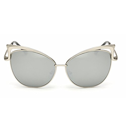 Cat pour Soleil Gray Soleil Lunettes All LiShihuan Eye Style de Color métal en de Silver Femme Lunettes tqgnwWR