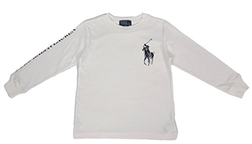 2 4 T Colori Lauren Bambino Mesi Bianco shirt Ralph Maniche 7 6 Polo Vari Lunghe Anni 24 fPR1n