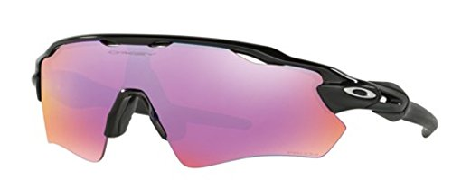 Oakley Men's Radar Shield Sunglasses (Black Frame Extended View Golf Prizm Lens, Black Frame Extended View Golf Prizm Lens) by Oakley