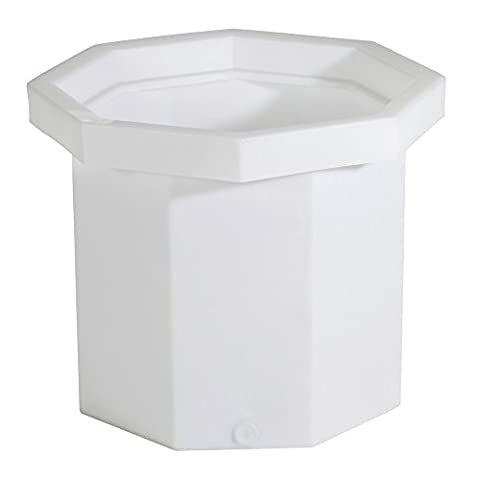 New Pig DRM373 LDPE Single Drum Container, 1200 lbs Capacity, White, For One 55 Gallon Steel or Poly - 55 Gallon Drum Spill Containment
