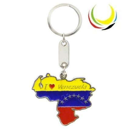 flagsandsouvenirs Keychain VENEZUELA MAP