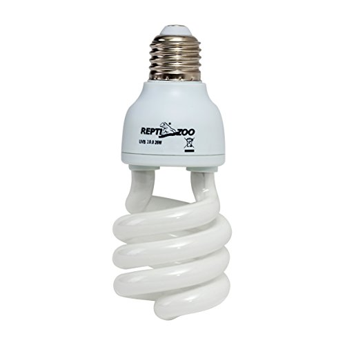 REPTIZOO Energy Saving Lamps UVB Bulb,Spiral Compact 15 Watts 26 Watts UVB 10.0 Reptile Light Bulb Fit for Desert Type Reptile/Snake/Lizard/Insect/Leopard Tortoise