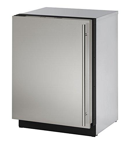 U-Line U-3024RS-01A 24 Inch Under Counter Solid Door Refrigerator, Stainless Steel, Left Hand Hinge (Certified Refurbished)