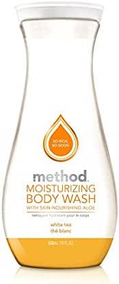 Method Naturally Derived Moisturizing Body Wash With Skin Nourishing Aloe, White Tea, 18 Ounce