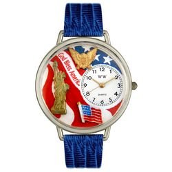 Whimsical Watches Unisex U1220022 July 4th Patriotic Navy Blue Leather Watch by Whimsical Watches (Image #2)