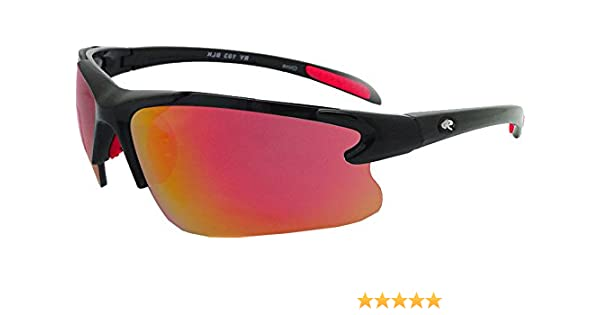 88050481043 Amazon.com  Rawlings Kids  103 Baseball Sunglasses (Black Red)  Sports    Outdoors