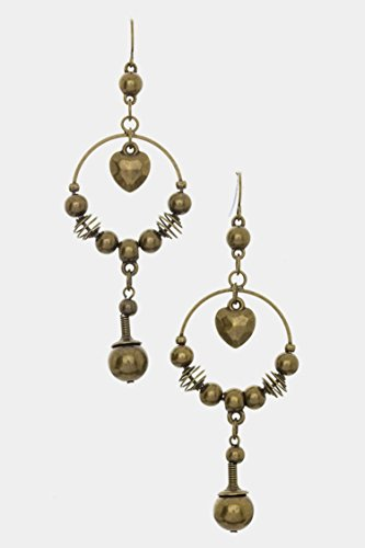 Trendy Fashion Jewelry Dangling Chandlier Earrings By Fashion Destination | (Bronze) (Earrings Dangling Avon)