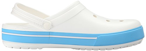 5 Zuecos Unisex Clog Crocband Adulto white Ii Blue electric Blanco Crocs xqwEIZ