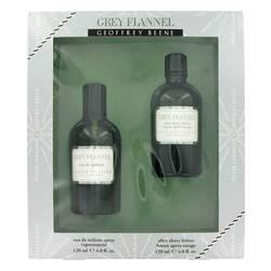 Grey Flannel Cologne By Geoffrey Beene for Men Gift Set - 4 oz Eau De Toilette Spray + 4 oz After Shave - Grey Flannel Rose Eau De Toilette