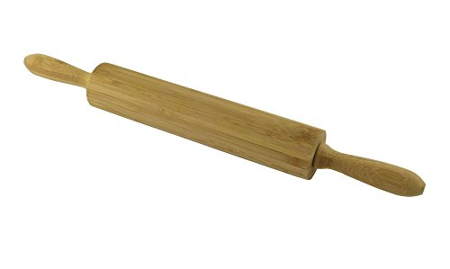 Minel 18 inch Wood Rolling Pin, Bamboo Dough Roller