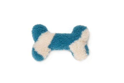 West Paw Design Mini Bone Squeak Toy for Dogs, Blue Spruce C