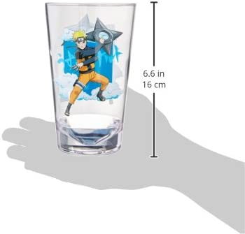 16oz Acrylic Pint Glass Naruto Shadow Clone Jutsu