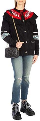 miu miu Luxury Fashion Donna 5BH118VOOMN88F0002 Nero Pelle Pochette   Stagione Permanente