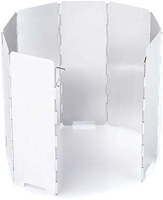 Overmont 8 Placas Parabrisas Plegable para Camping Cocina Estufa de Gas Escudo Pantalla de Viento Cortavientos al Aire Libre: Amazon.es: Electrónica
