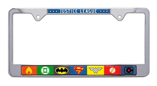 dc comics license plate frame - 3