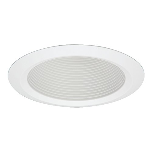 Cone White Trim - Halo 5125WB Recessed Self-Flanged White Trim with Full Cone White Baffle, 5