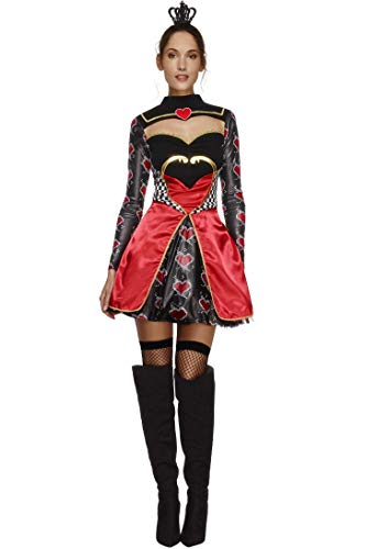 Smiffys Fever Queen of Hearts Costume ()