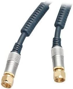 Cable de antena para Home Cinema (1,5 m, con clavijas F, apantallado con filtro de corriente) 10 m