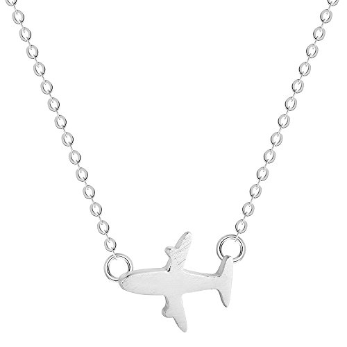- CHUYUN 925 Sterling Silver Aircraft Airplane Plane Pendant Necklace Handmade Jewelry Gift