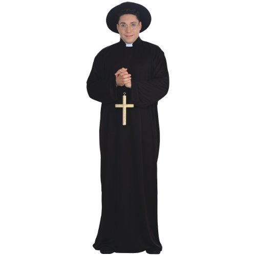 Priest Full Figure Adult Costume - Priest Adult Plus Costumes